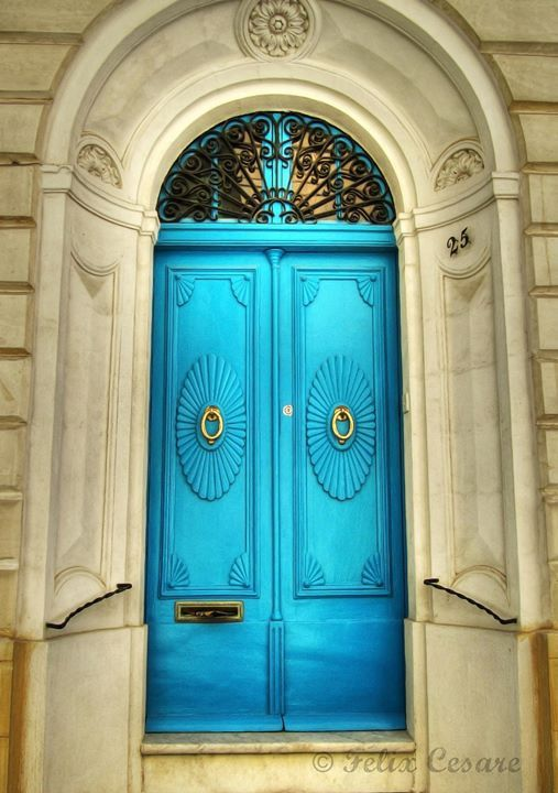 Turquoise doors ~ Malta   Door & Entryway inspiration The Gatz www.thegatz.com