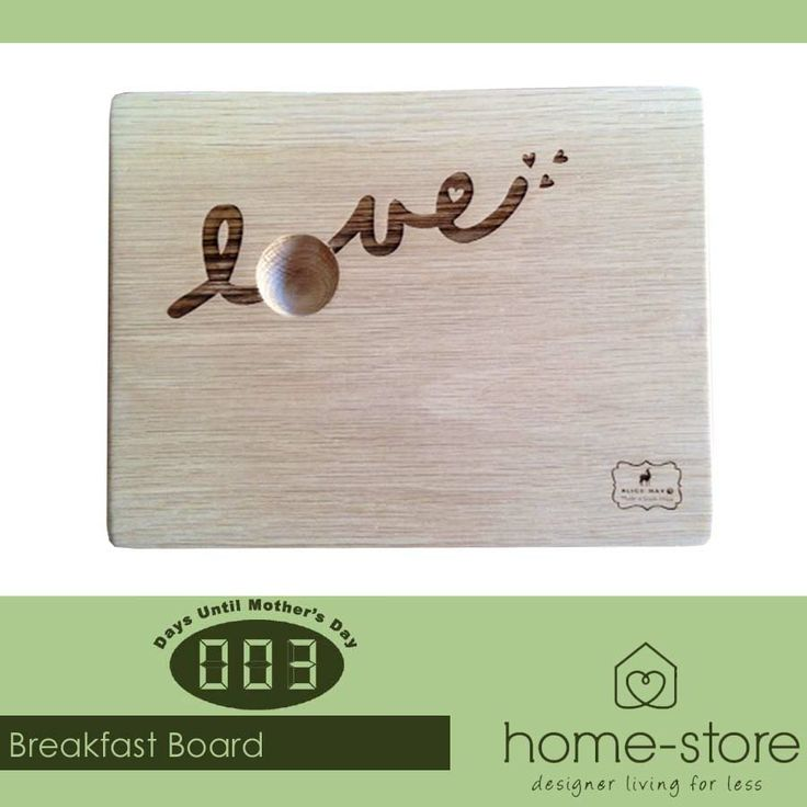 A great way to serve your mom breakfast in bed: Our gorgeous range of Breakfast Boards and Egg Dipper Boards are an ideal gift choice for Mother's Day. Visit Home-Store for more fabulous ideas. #MothersDay #breakfastinbed
