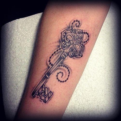 Antique Key Tattoo by Nevermore-Ink.deviantart.com on @deviantART