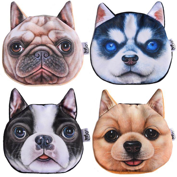 3D Cute Dog Prints Coin Purses //Price: $6.63 & FREE Shipping // #handbag #awesome #bagsdesigns
