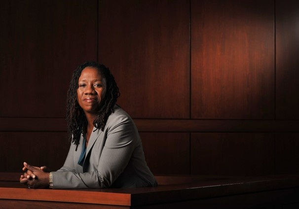 Sherrilyn Ifill, scholar. law professor. author. current president of the NAACP Legal Defense Fund.