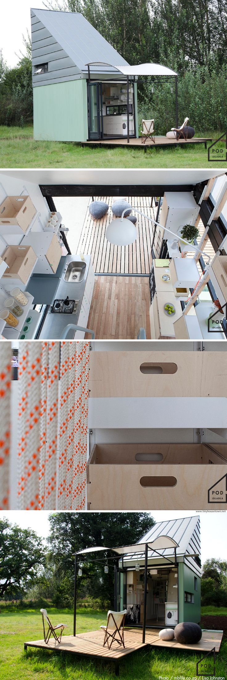 The POD-idladla: a 185 sq ft tiny house from South Africa.