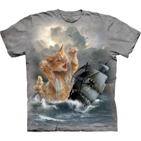 Look what can the hungry kitten do! The Mountain offers you the incredible 'The Mountain Krakitten T-Shirt'. The pseudo 3D t-shirt has not only cool style, but also high quality. Made from preshrunk 100% cotton, the kitten shirt has a natural feel and comfortable to wear. Its image is hand-dyed with special eco-friendly nontoxic inks in the USA and won't fade even after many washes. This pseudo 3D t-shirt is an excellent gift! You will get many compliments wearing this amazing tee. Buy now…