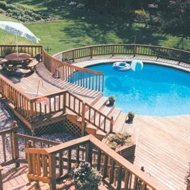 27 best images about pool on pinterest decks outdoor for Above ground pool decks with bar