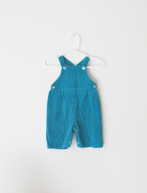 Vintage 1980's Baby Boy Overalls / Infant Green by WeeBabyBug
