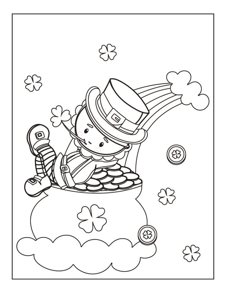 Five Free St. Patrick's Day Coloring Pages The kids will