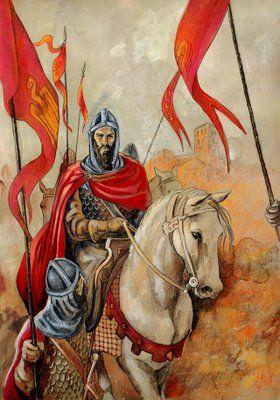 En uno de los sueños del Cid se le aparece el ángel Gabriel el cual le dice que todo lo que haga le saldrá bien y por ello el Cid lucha junto a Minaya y al conquistar el castillo de Sevilla.