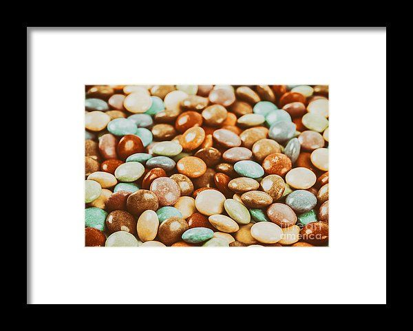 Sweet Colorful Candy Framed Print