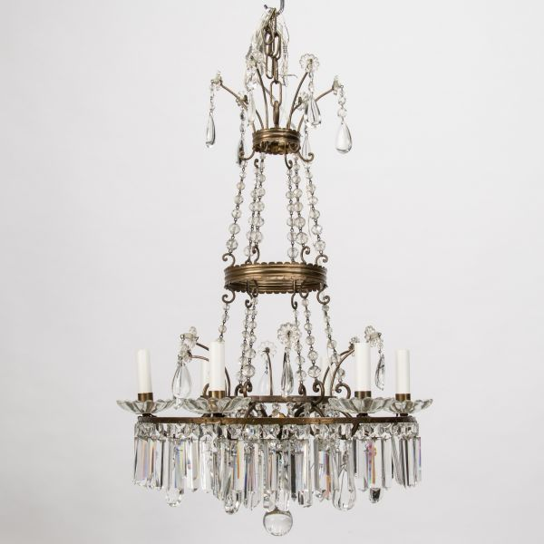 French empire 6 lite chandelier item 8382 new wiring for us electrical standards