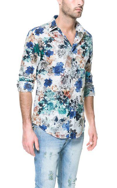 CAMISA FLORES ESTAMPADAS - Casual - Camisas - Hombre | ZARA México