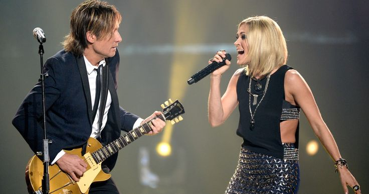 """During their Australian tour, Keith Urban and Carrie Underwood partnered to sing the Tom Petty and Stevie Nicks duet """"Stop Draggin' My Heart Around."""""""