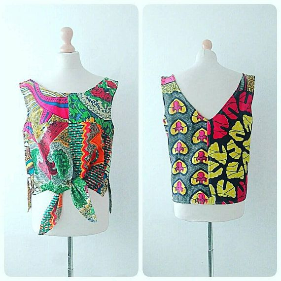 Introducing the summer festival Ankara clothing crop top range made with mixed African Ankara prints. Available made to order to any size. ** please note print combo can vary per order, however colours will remain the same. Please allow 2-3 weeks for custom orders