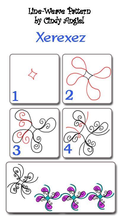 Xerexez zentangle design #zentangles
