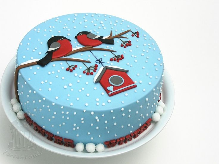 Winter Cake – with Massa Ticino ™ Sugarpaste – colorful and rich in contrasts (Tortentantes Tortenwelt – DER Tortenblog with instructions and tips for motif cakes)  – fondant torten