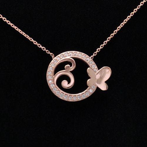 #rose #silver #necklaces // Lant cu pandantiv din argint roz doar pe www.silverbox.ro