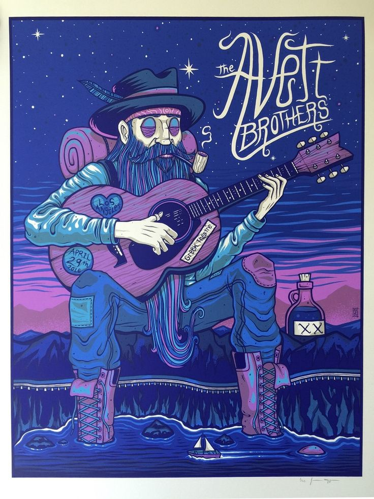 Image of The Avett Brothers - Greek Theatre - April 29th, 2016 - Pearlescent Variant