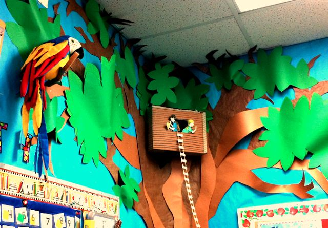 Whimsy Workshop - Magic Treehouse in the classroom tree