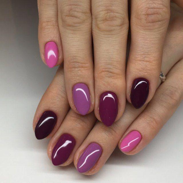 Shop www.semilacusa.com Used SEMILAC COLORS: 009 Baby Girl, 010 Pink & Violet, 012 Pink Cherry, 083 Burgundy Wine, 099 Dark Purple Wine