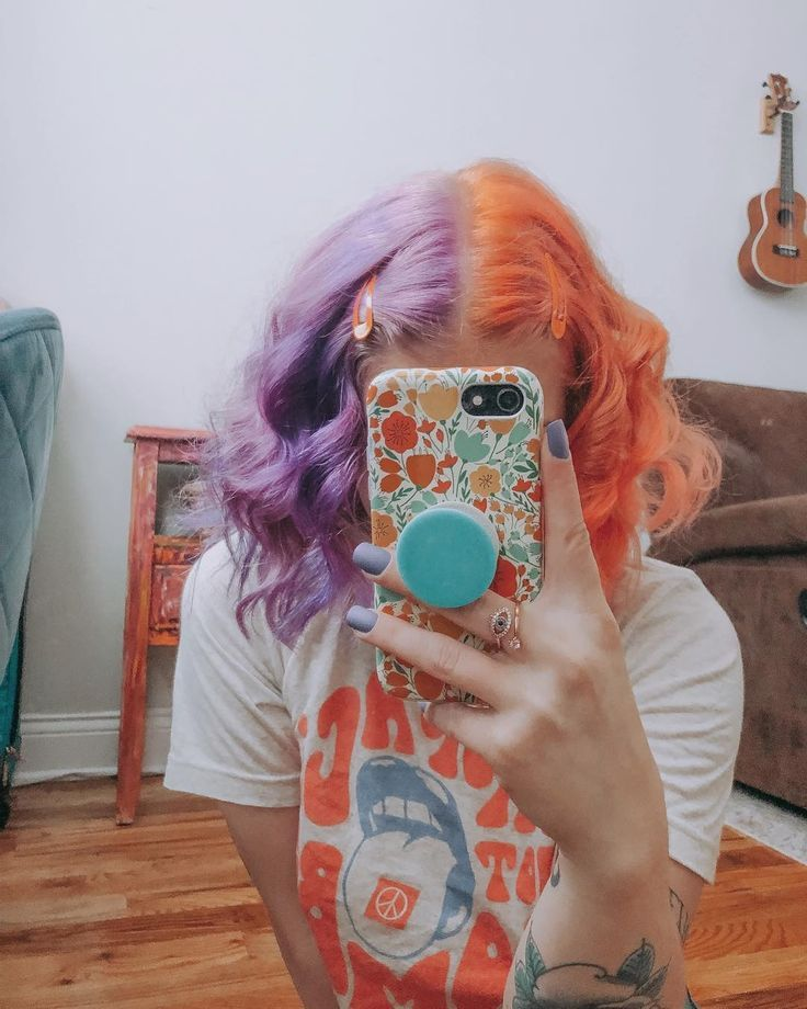 Arctic Fox Hair Color Crsngnglr Might Be Over It Now But I Feel It Still Spl Beautyblog Makeupofthe Arctic Fox Hair Color Split Dyed Hair Hair Inspo Color