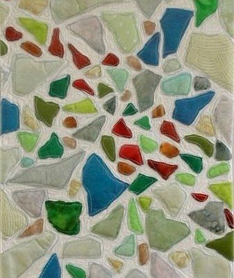 sea glass quilt: Beach Glass, Glasses, Art Journals, Glass Quilts, Completed Sea, Linda S Art, Craft Ideas, Sea Glass, Seaglass