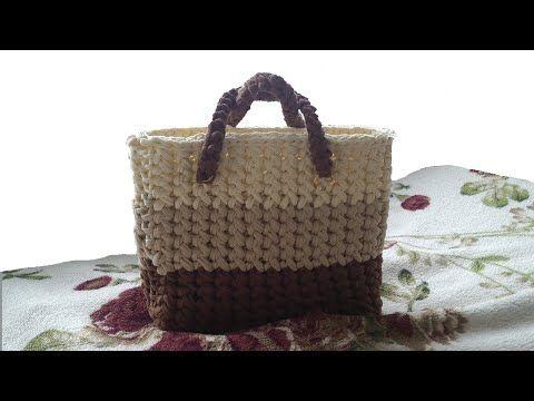 Вязание крючком. Сумка. Трикотажная пряжа | Hats, scarves, mittens, bags | Postila