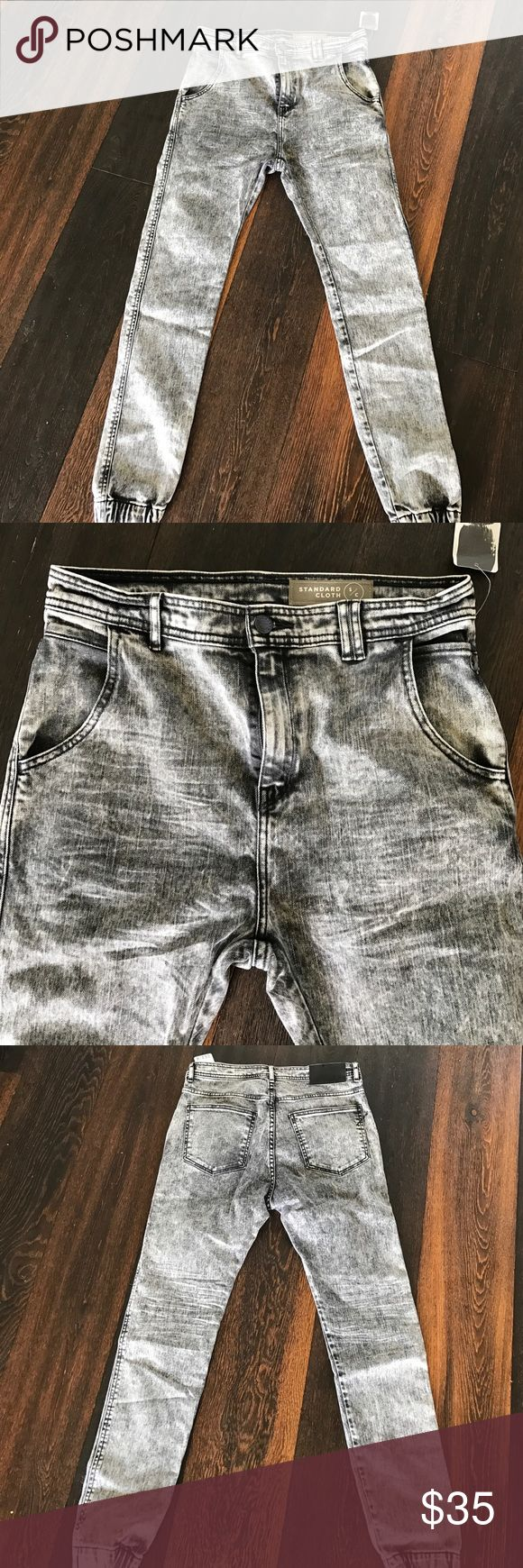 Men's Standard Cloth denim joggers Men's Standard Cloth denim joggers from Urban Outfitters. Color is carbon. New with tags - never worn! Urban Outfitters Pants