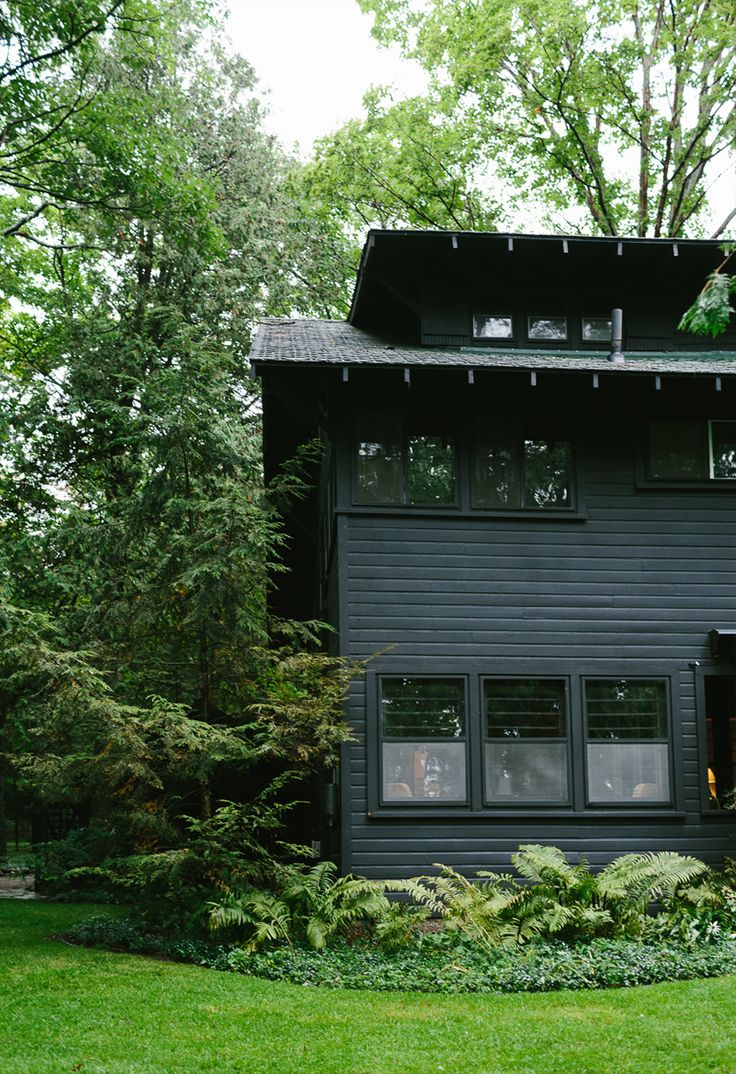 183 best Black Houses images on Pinterest | Black house, Outdoor ...