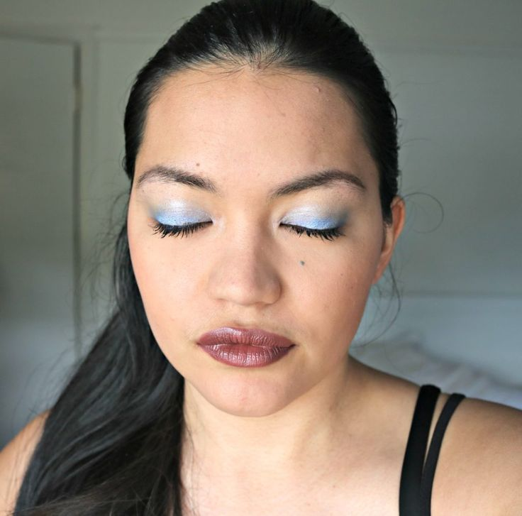90's Makeup | Beauty Through the Decades | Blue eyeshadow, brown lipstick, 90s makeup, 90s eyeshadow