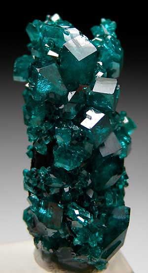 Dioptase crystals (stalactitic in form) / Tsumeb, Namibia
