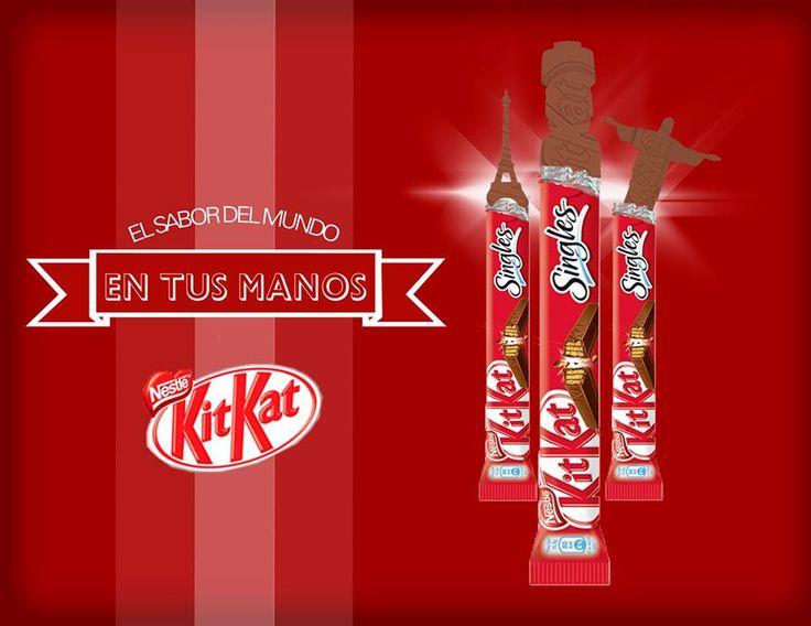 Campaña Kit Kat  CCC: El mismo sabor en todo el mundo Creditos: Sebastian Orellana http://www.pinterest.com/sebaorellana/