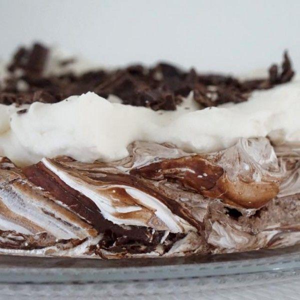 Pavlova+#sjokolade+#rustikk