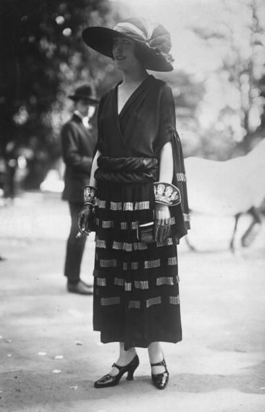 A model wearing an outfit designed by Madeleine Vionnet - May 1922.