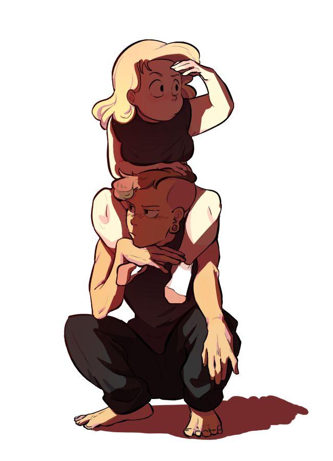 "sa-poon: "" Steven Universe Lars and Sadie Miller """