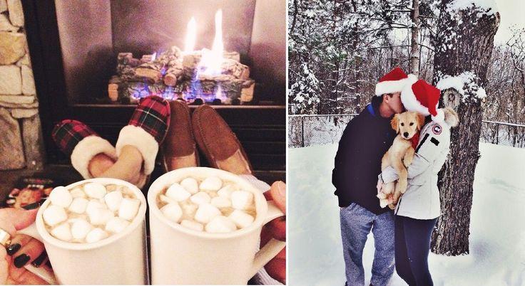 Vianočné fotky, ktoré zachytávajú to, na čo sa všetci zaľúbení tešia najviac zo všetkého