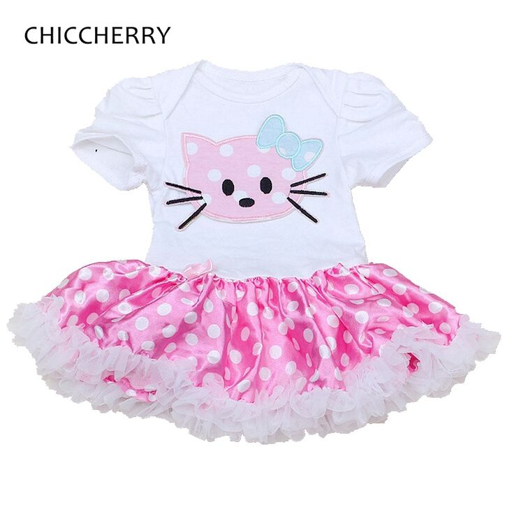 >> Click to Buy << Hello Kitty Lace Tutu Baby Girl Dress Vestido Infantil Robe Bebe Fille Girls Dresses Summer 2016 Baby-Clothes Infant Clothing #Affiliate