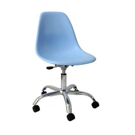 Cadeira DKR Office em Polipropileno com Rodízios Mobitaly - Azul