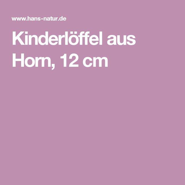 Kinderlöffel aus Horn, 12 cm