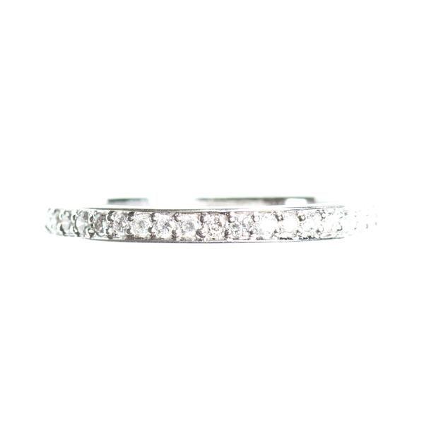 Full eternity diamond 14k rose gold ring