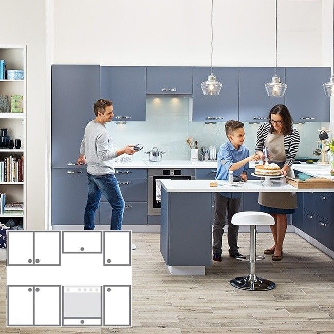 Modulowy Zestaw Mebli Kuchennych City Ii Denim 1 8 M Modulowe Zestawy Meblowe Meble Kuchenne Meble Urzadzanie Furniture Home Decor Decor