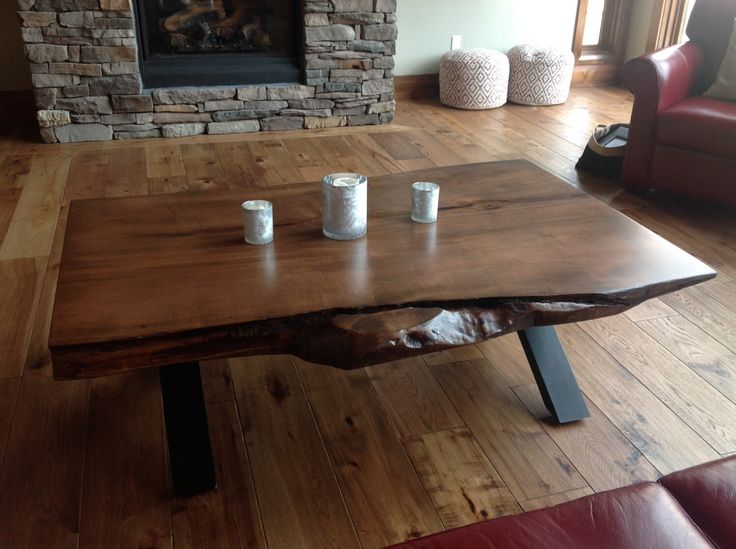 Toronto Live Edge Coffee Table Live Edge Bar Live Edge Furniture Wood Slab  Tables