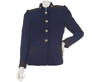 Pin to Win #SusanGraver Sweepstakes! {Brushed Twill Military Jacket with Contrast Trim} Enter here: http://sweeps.pinfluencer.com/QVC