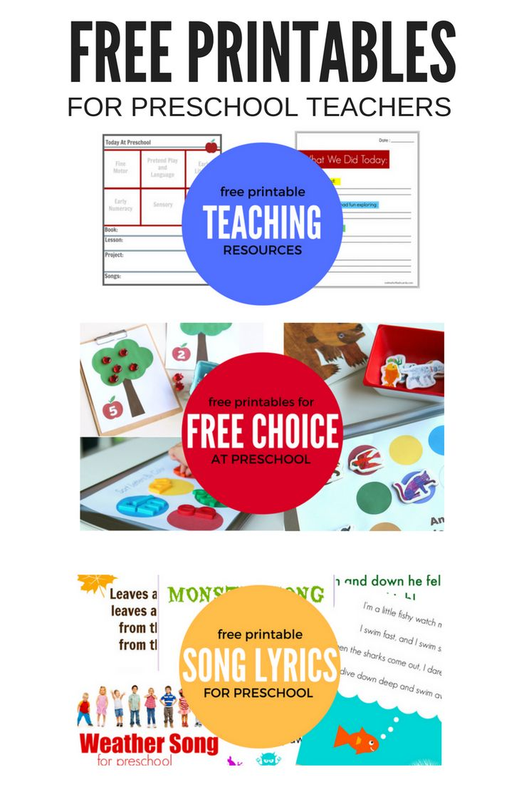 Use these free printables for preschool in your classroom or your own home. Fantastic free resource for parents and teachers.