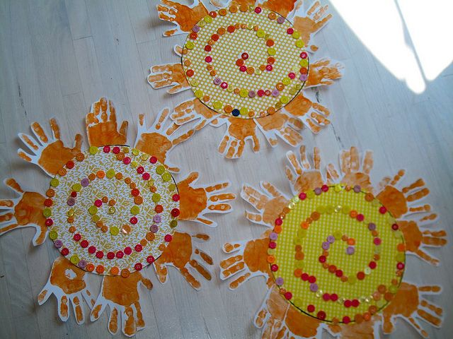 Sunshine Craft - made this with Elijah except we made our buttons into a smiley face. He loves it.