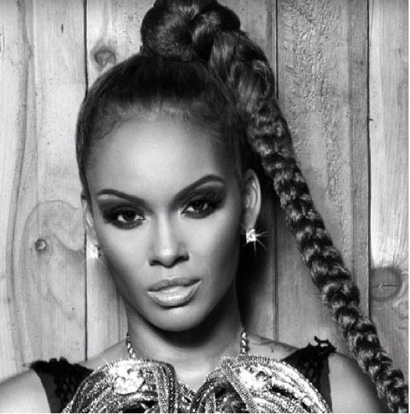 high ponytail braid - evelyn lozado