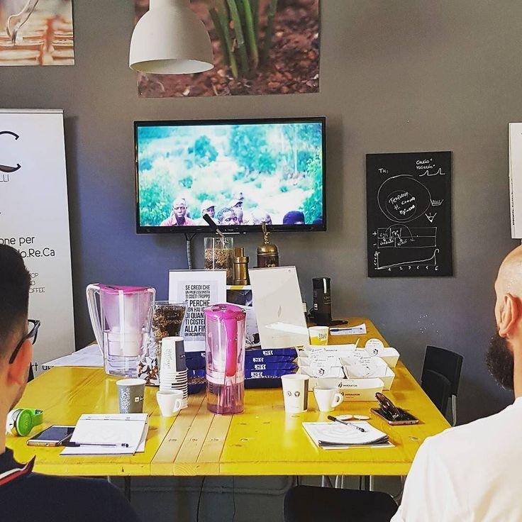"Today #Sca Introduction to Coffee as always ""A Film About Coffee"" to show... -- Oggi Sca Introduzione al Caffè come sempre ""A Film About Coffee"" in visione... #training #CoffeeTrainingAcademy #Verona #Barista"