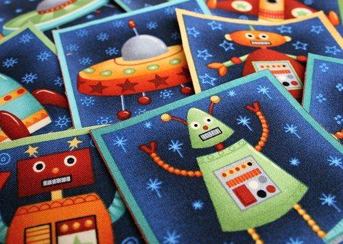Roboti - nažehlovací obrázky 3 ks