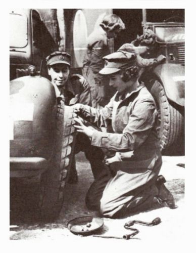 1945, 18-year-old Princess Elizabeth II convinced her father that she should be allowed to contribute directly to the war effort.  She joined the Women's Auxiliary Territorial Service (ATS) where she was known as Second Subaltern Elizabeth Windsor, trained as a driver & drove a military truck while she served. This training was the first time she had been taught together with other students.