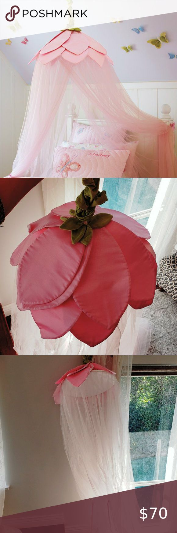 Pottery Barn Kids Pink Rose Petal Tulle Canopy In 2020