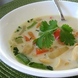 La soupe de poulet Thaï d'Adrienne