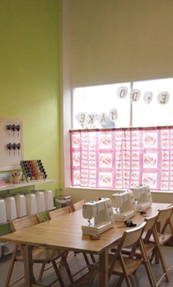 sewing class room